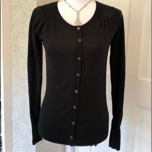 Old Navy black cotton cardigan